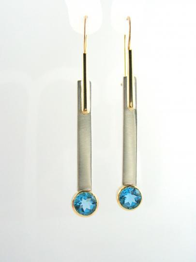 Swiss Blue Topaz Earrings